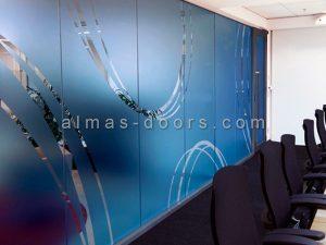 شیشه سند بلاست درب اتوماتیک